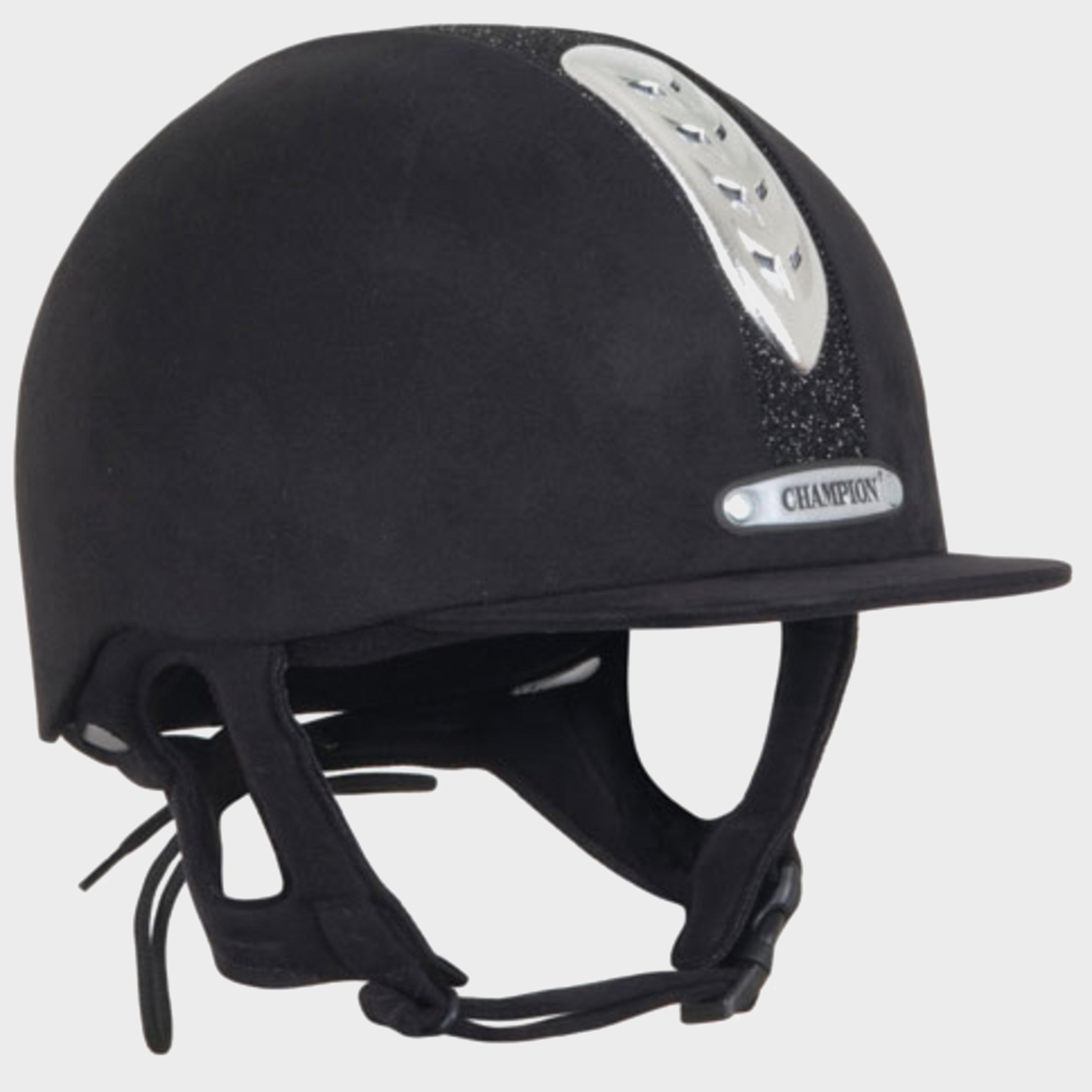 Image of Champion Junior X-Air Dazzle Plus Riding Helmet - Black/Plus, Black/PLUS