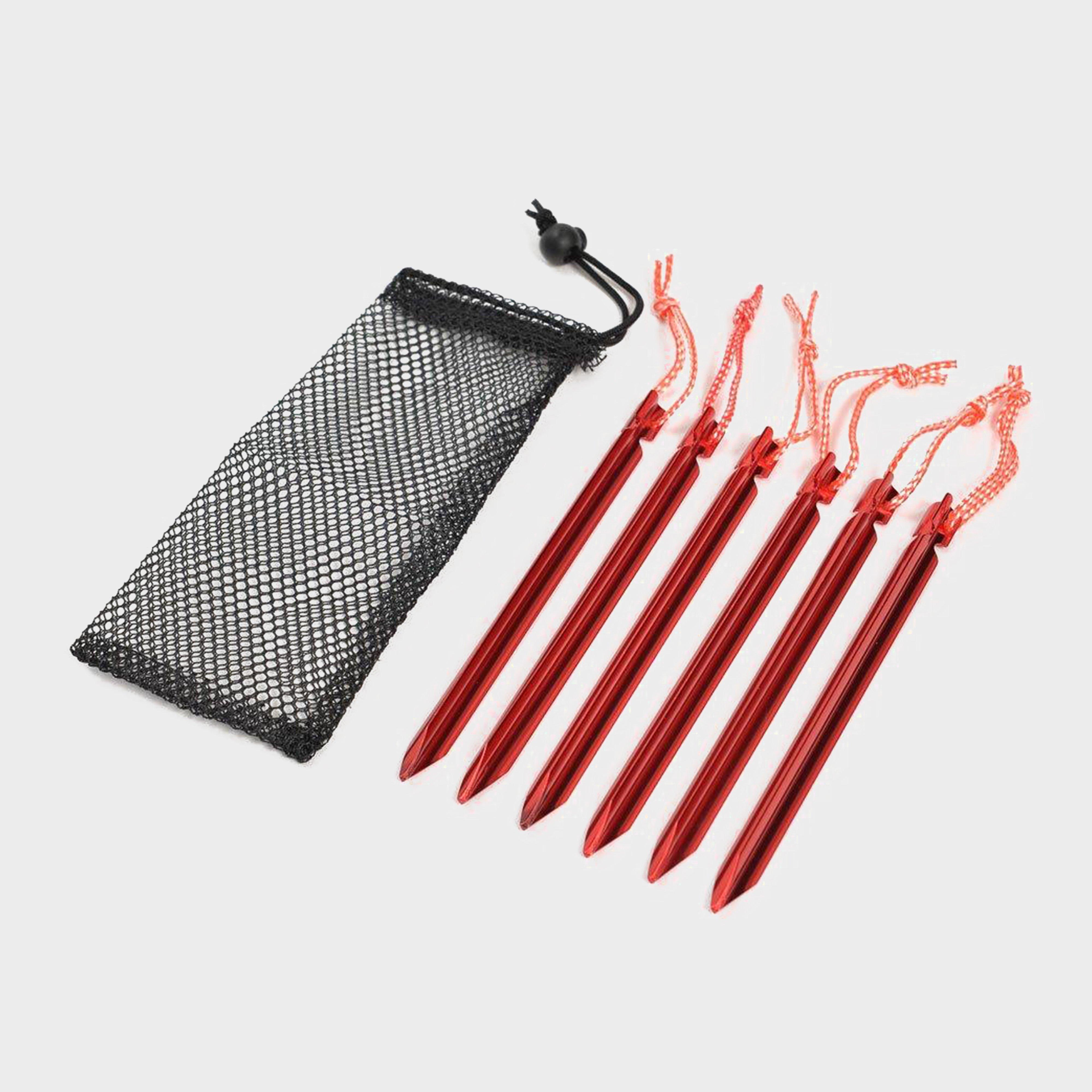 Oex Oex Arrow Lightweight Aluminium Pegs (6 Pack) - Red, Red