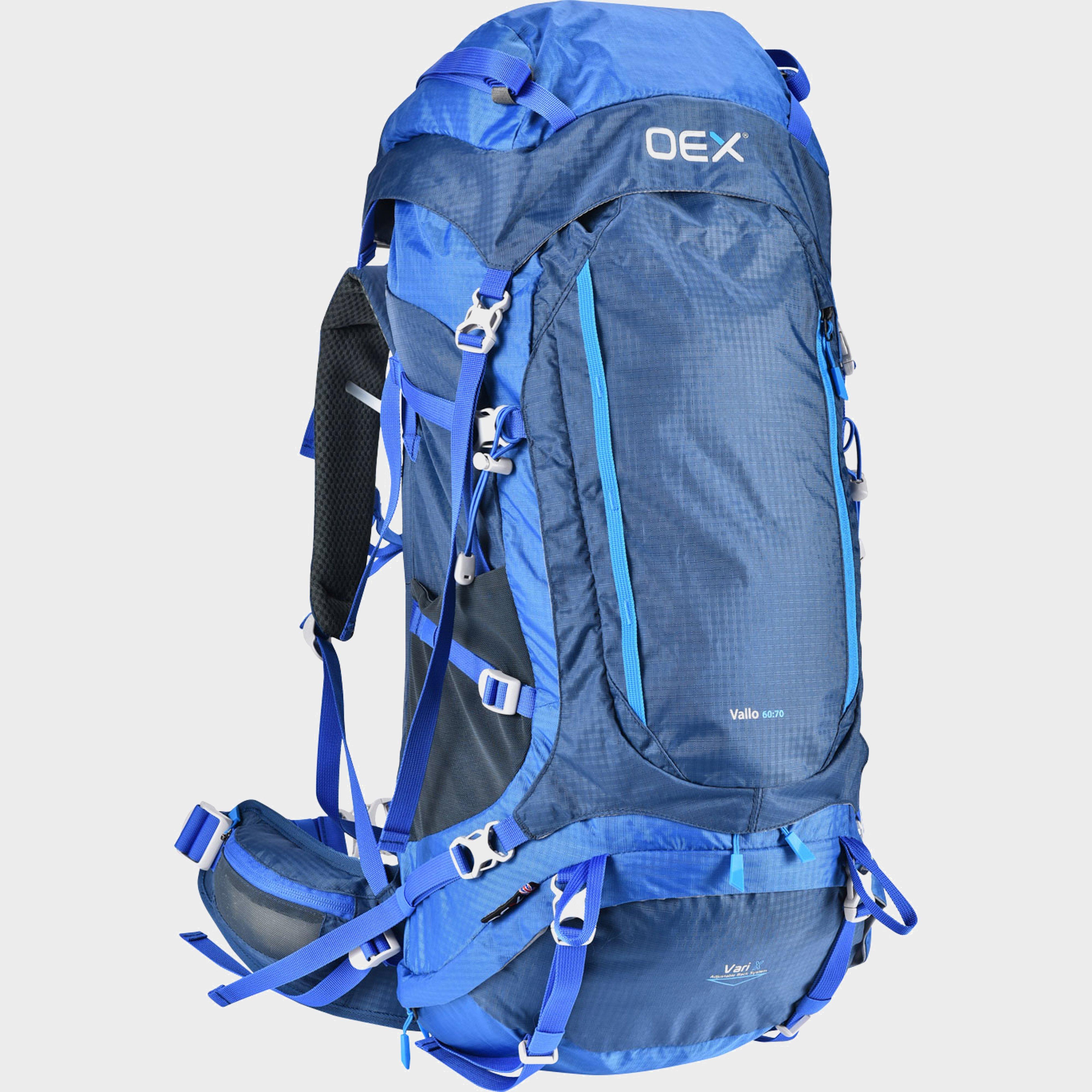 Oex Oex Vallo EXP 60:70 Rucksack - Blue, Blue