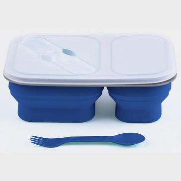 BLUE HI-GEAR Folding Lunch Box Set