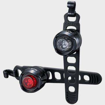 Black Cateye Orb Bike Light Set