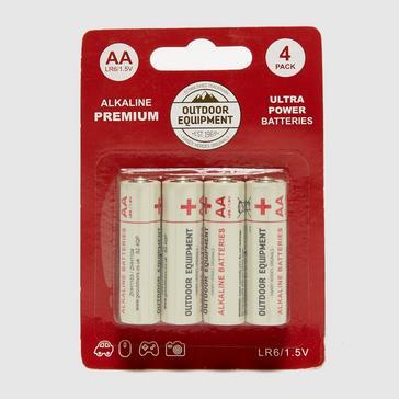 white Handy Heroes AA 4 Pack Alkaline Batteries