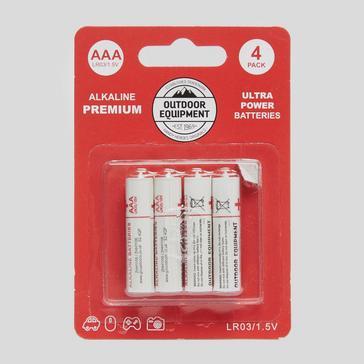 white Handy Heroes AAA Alkaline Batteries (4 Pack)