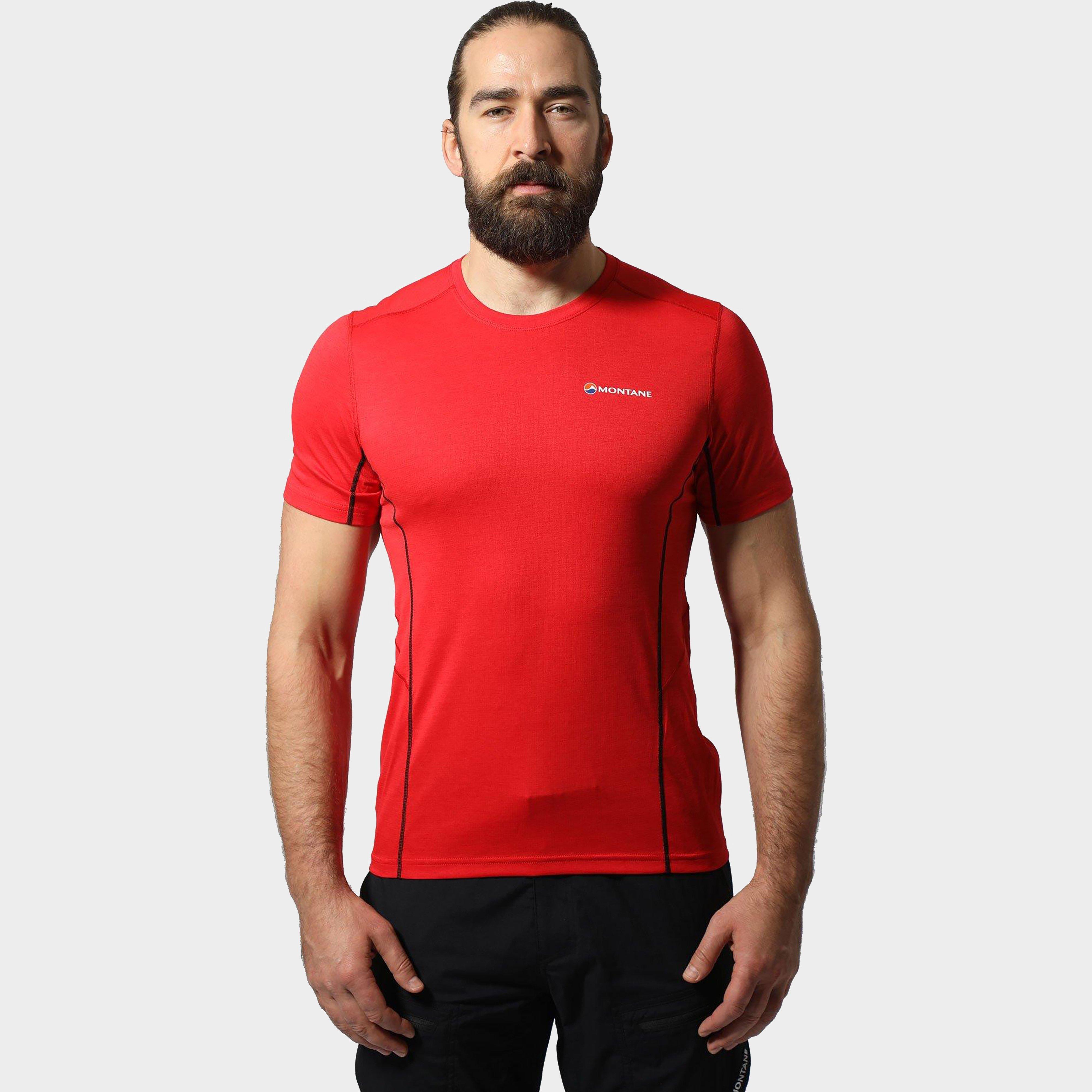Montane Montane Mens Dart T-Shirt - Red, Red