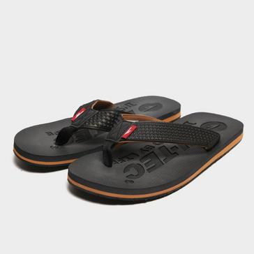 Black Hi Tec Men's Shadow Thong Sandals