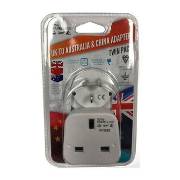 White Boyz Toys 2pk Travel Adaptor - UK to Australia & China