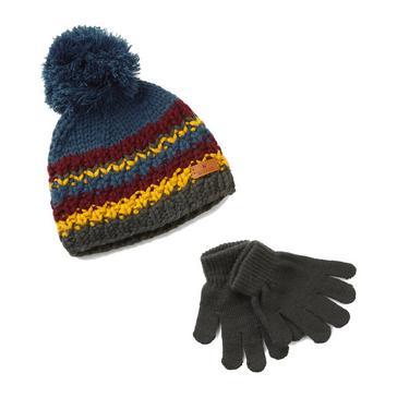 Multi HI-GEAR Kids' Hat and Glove Set