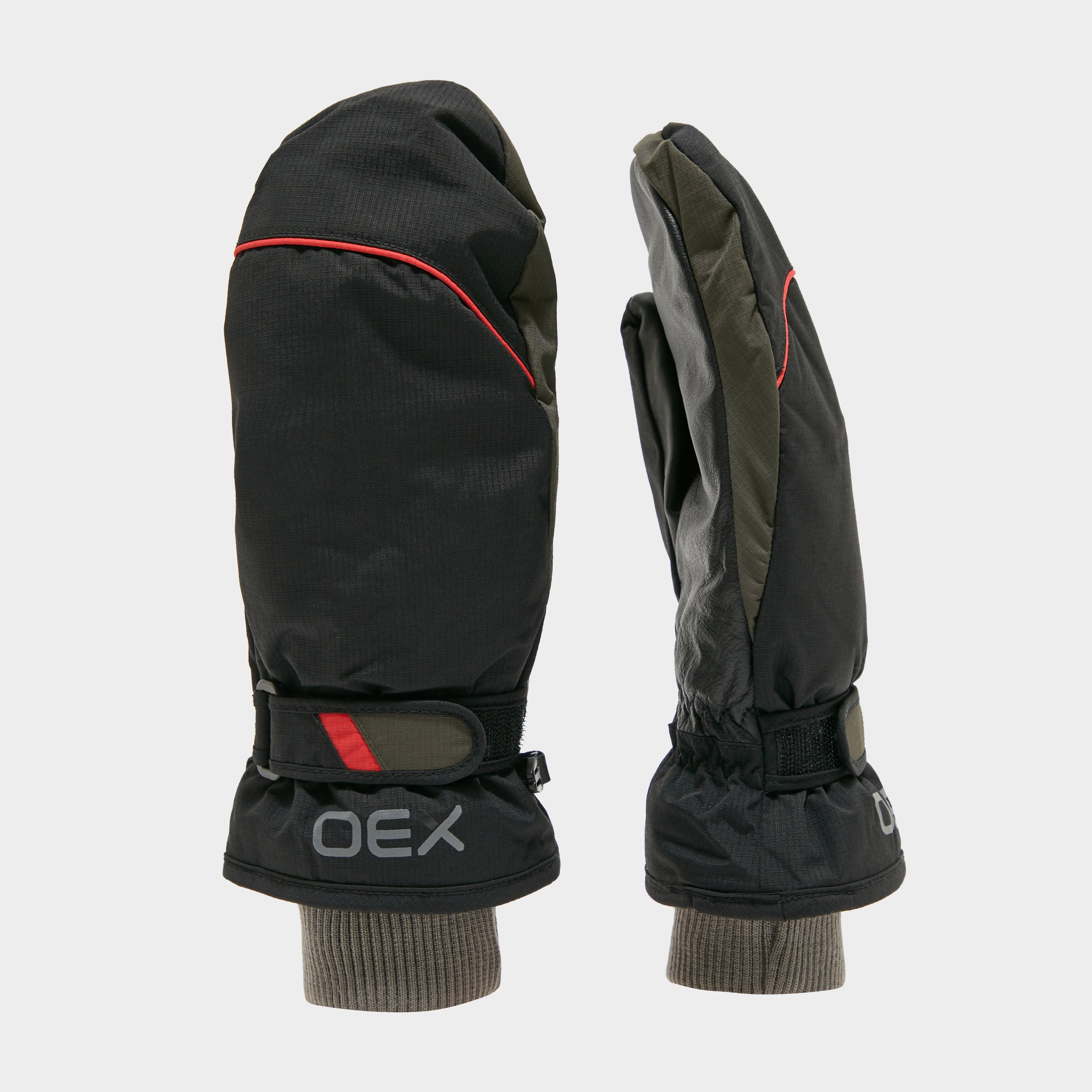 Oex Oex Summit Waterproof Mitts - Black, Black