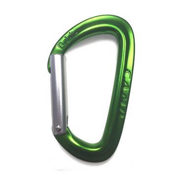 GREEN Camp Orbit Straight Gate Carabiner