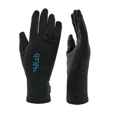 BLACK Rab Women's Power Stretch Contact Grip Gloves