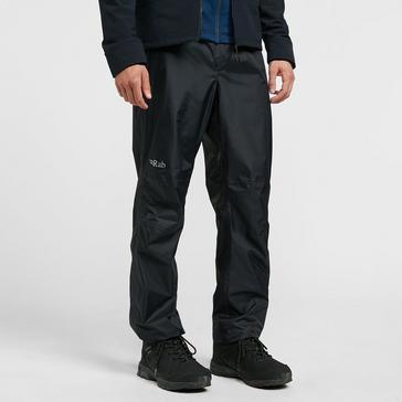 BLACK Rab Men's Downpour Waterproof Pants