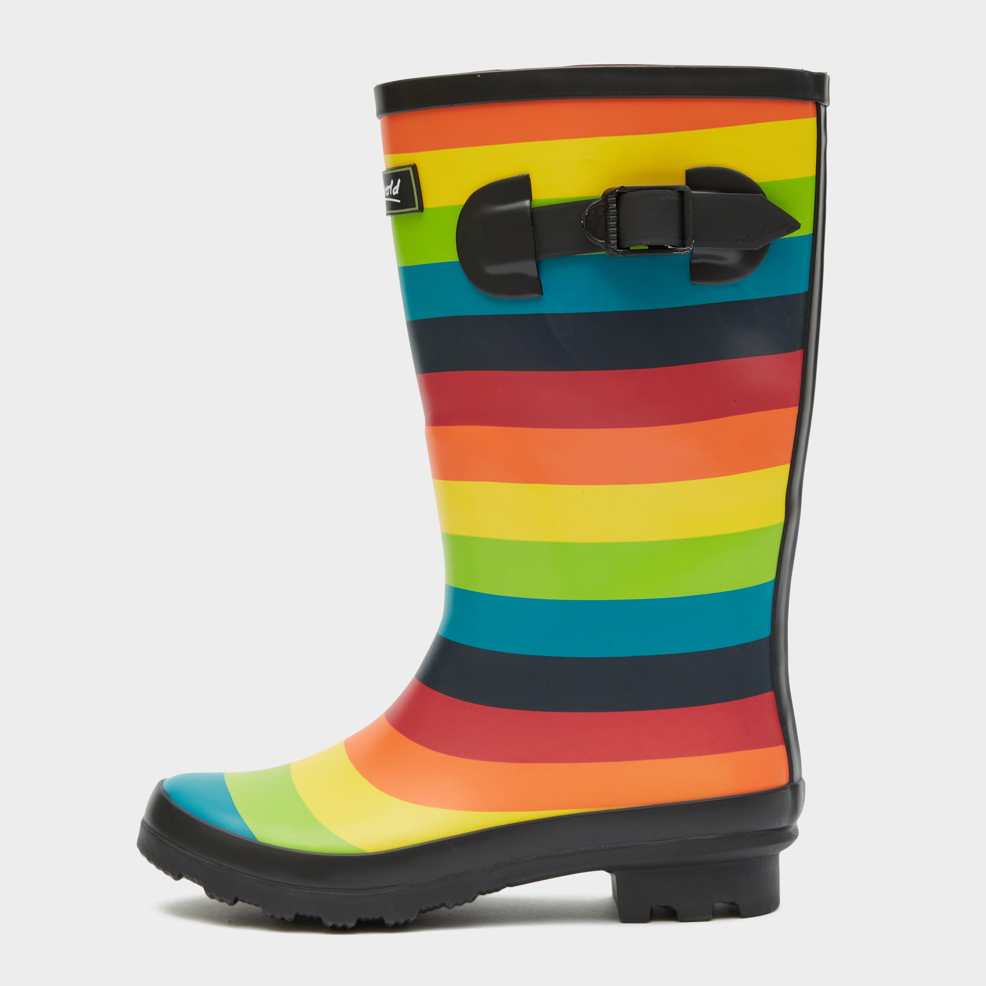 Image of Cotswold Multicoloured Rainbow Jnr Wellington Boots - Multi/Multi, MULTI/MULTI