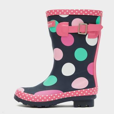MULTI COTSWOLD Multicoloured Dotty Jnr Pull On Wellington Boots