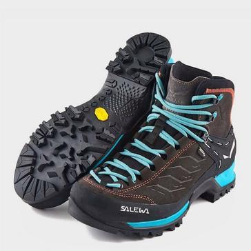 Brown Salewa Women's Mountain Trainer Mid GORE-TEX® Walking Boo