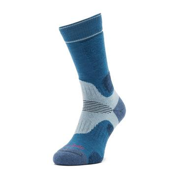 Blue Bridgedale Women's Hike Midweight Merino Endurance Boot Socks