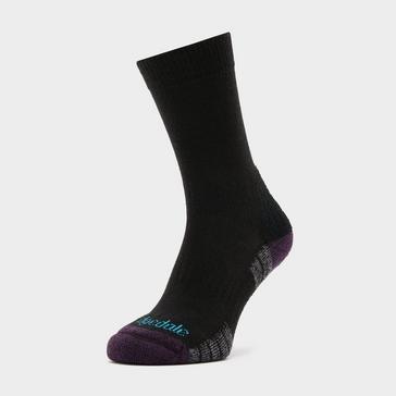Black Bridgedale Women's Hike Lightweight Merino Endurance Boot Socks