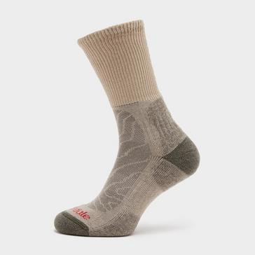 Cream Bridgedale Men's Hike Lightweight Merino Comfort Boot Sock