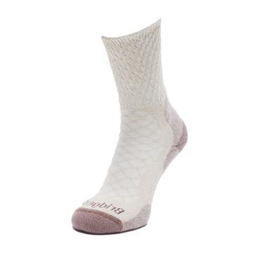 Beige Bridgedale Women's Hike Lightweight Merino Comfort Boot Sock