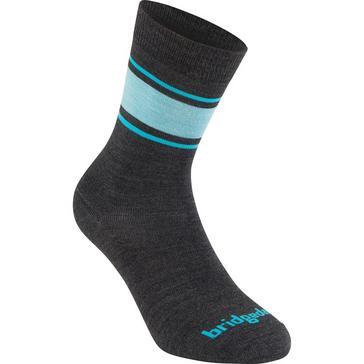 Grey Bridgedale Women's Everyday Merino Endurance Boot Sock/Liner