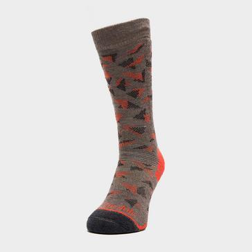 Brown Bridgedale Men's Hike Midweight Merino Endurance Boot Socks