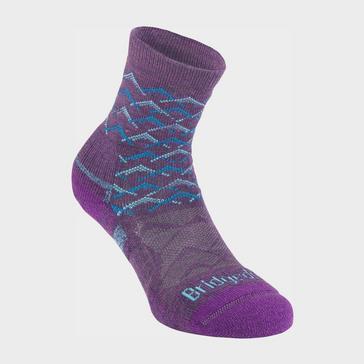 Purple Bridgedale Women's Hike Lightweight Merino Endurance Ankle So