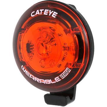 Red Cateye Wearable Mini Rear Light