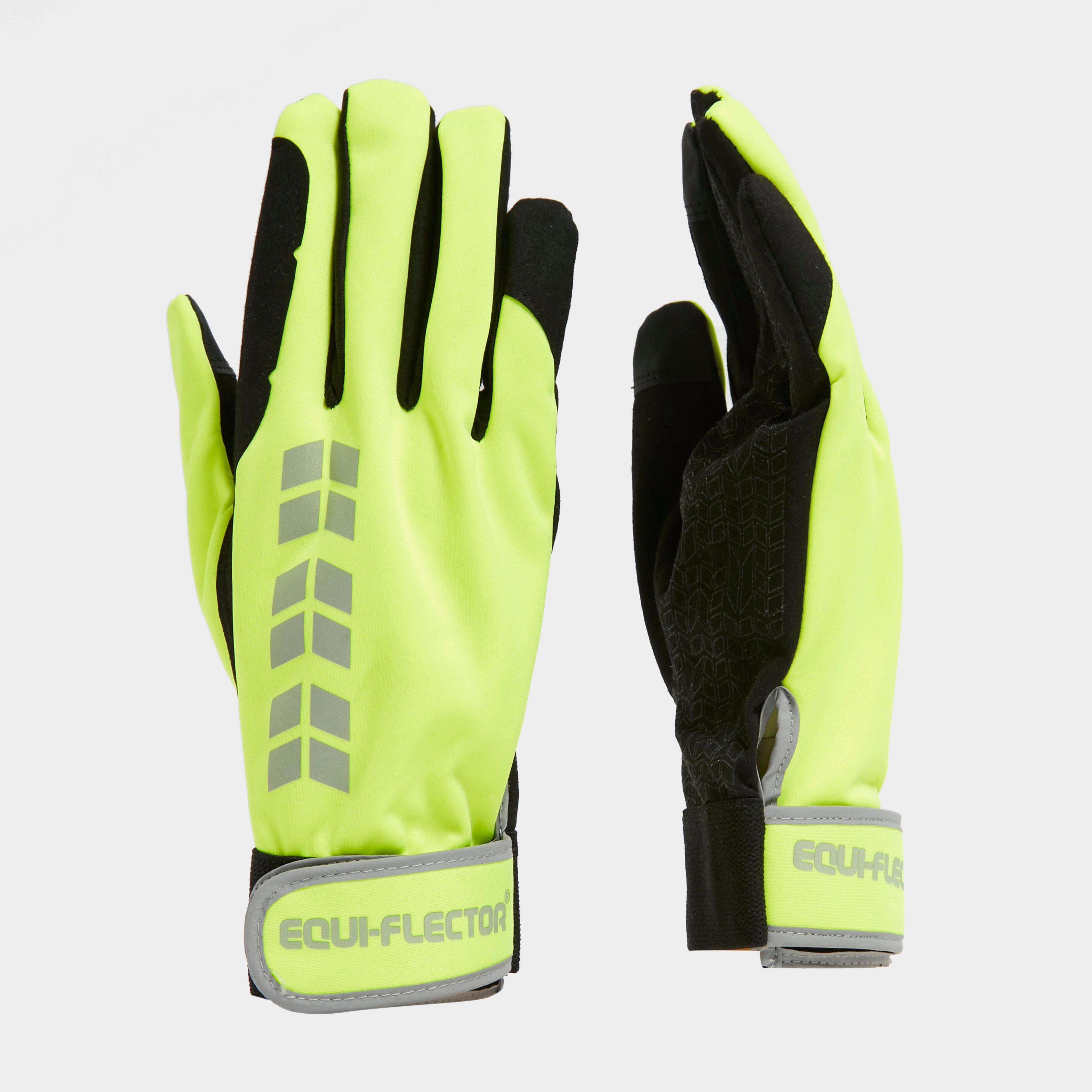 Image of Shires Equi Flector Riding Glove - Yellow/Glove, Yellow/GLOVE
