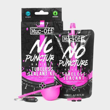 Black Muc Off No Puncture Hassle Tubeless Sealant (140ml Kit)
