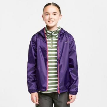 PURPLE FREEDOMTRAIL Kids' Tempest Waterproof Jacket