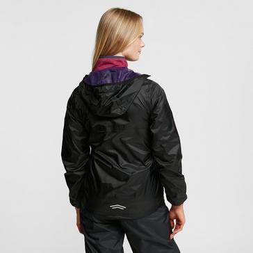 BLACK PURPLE FREEDOMTRAIL Women's Tempest Waterproof Jacket