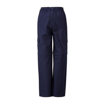 NAVY HI-GEAR Kids' Nebraska II Zip-Off Walking Trousers