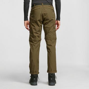 Green HI-GEAR Men's Nebraska II Zip-Off Walking Trousers
