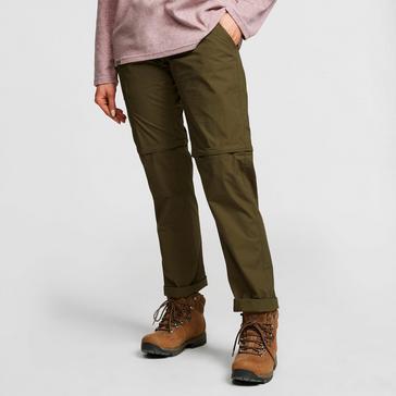 Green HI-GEAR Women's Nebraska II Zip-Off Walking Trousers