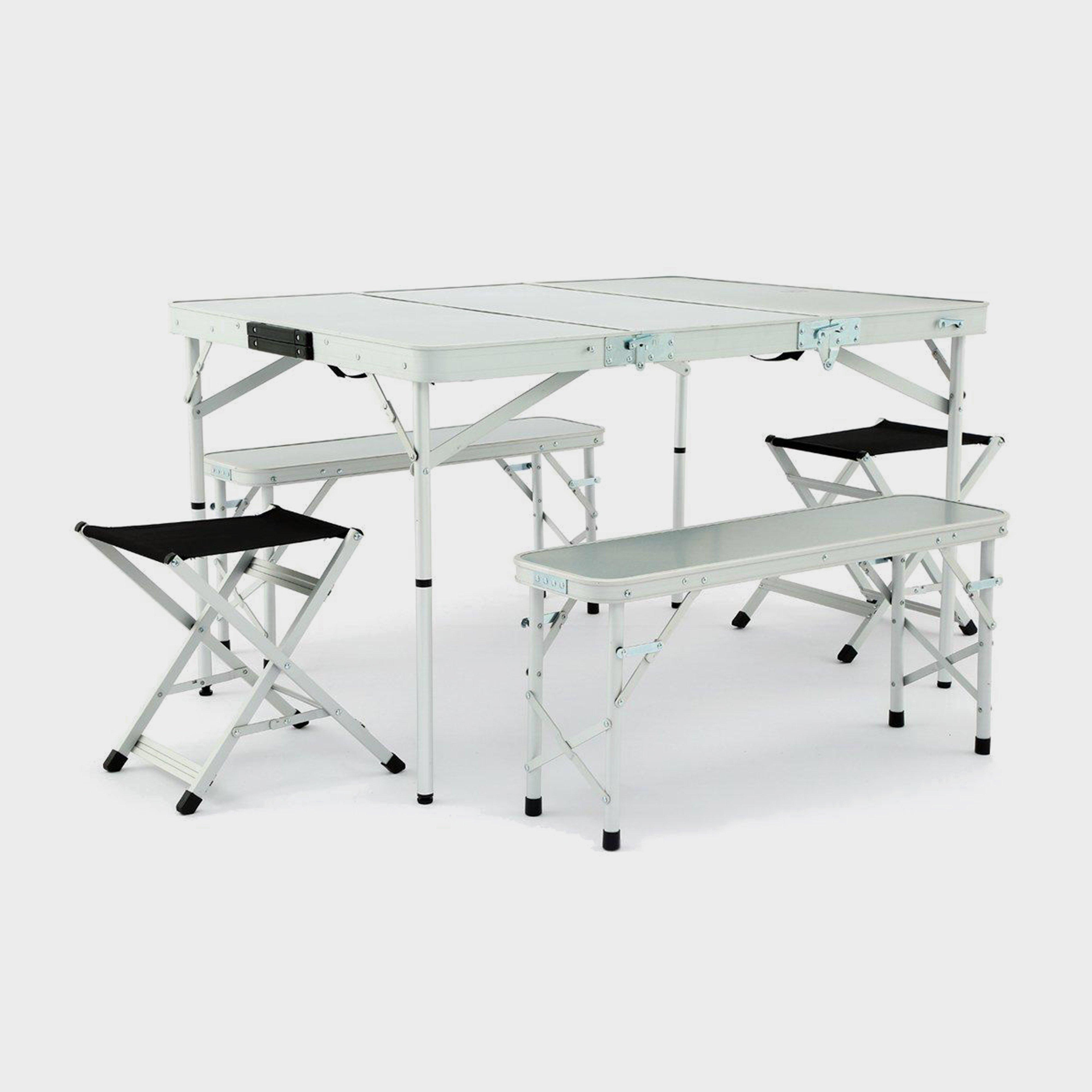 Hi-Gear Hi-Gear Elite Picnic Table Set - Silver, Silver