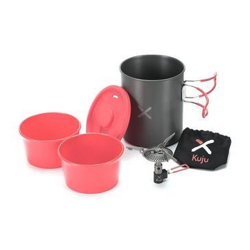 BLACK RED OEX Kuju Micro Stove Set