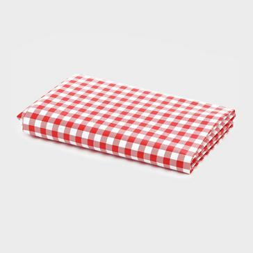 RED HI-GEAR Gingham Camping Tablecloth