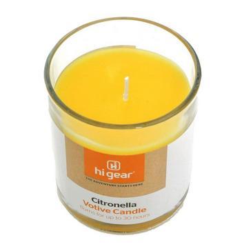 Yellow HI-GEAR Citronella Votive Candle