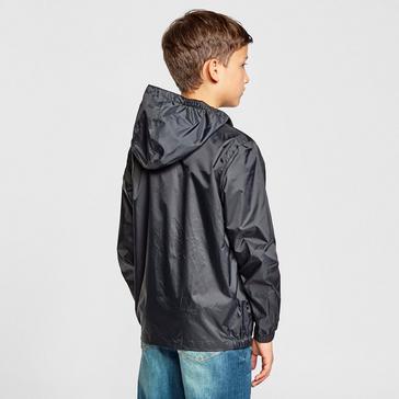 BLACK FREEDOMTRAIL Kids' Stowaway Waterproof Jacket