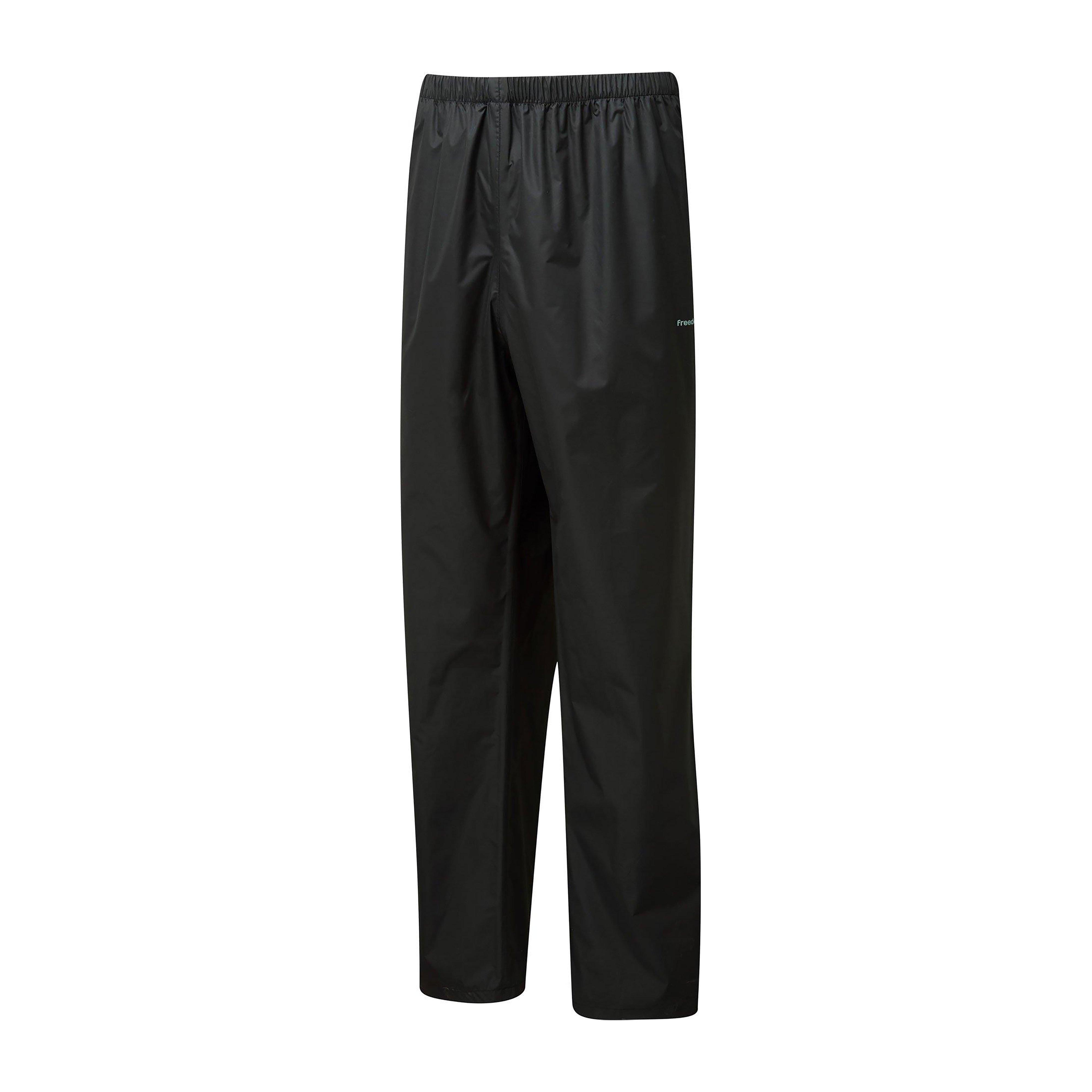 Freedomtrail Freedomtrail Mens Stowaway Waterproof Trouser - Black, Black