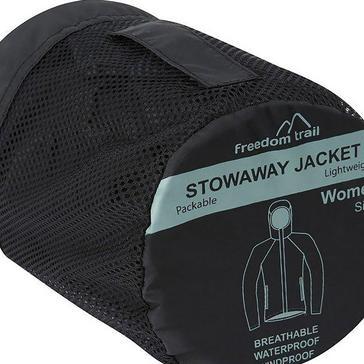 Black FREEDOMTRAIL Women's Stowaway Waterproof Jacket