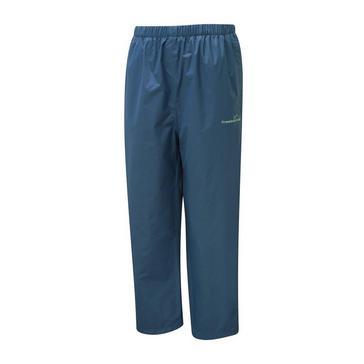 Blue FREEDOMTRAIL Kids' Stowaway Waterproof Trouser