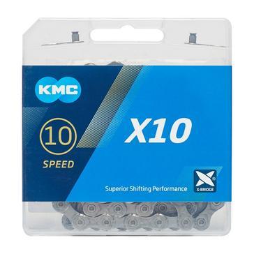 Grey|Grey KMC Chains X10 MTB Chain