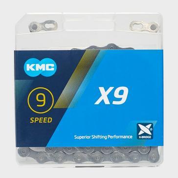 Grey|Grey KMC Chains X9 MTB Chain