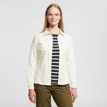 Cream Craghoppers Women's Nosilife Adventure II Shirt