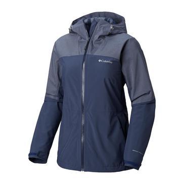 NAVY Columbia Women's Evolution Valley II Waterproof Jacket