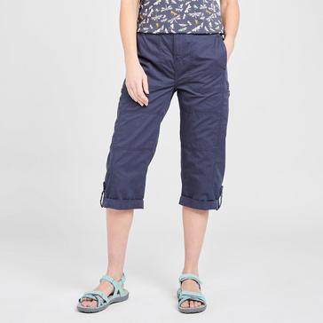Navy Weird Fish Women's Salena ¾ Trousers
