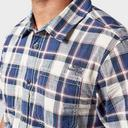 Navy WEIRD FISH Men's Clane Slub Check Shirt image 5