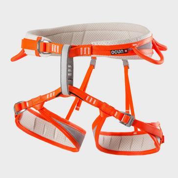 orange Ocun Men's Neon Climbing Harness