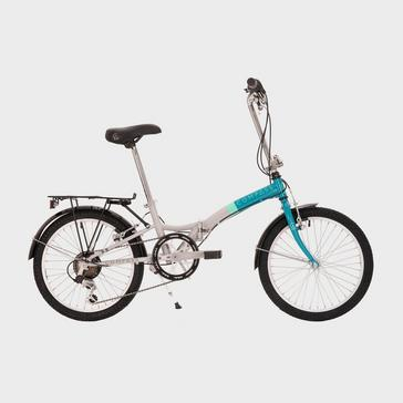 WHITE-BLUE Compass 'Northern' Folding Bike