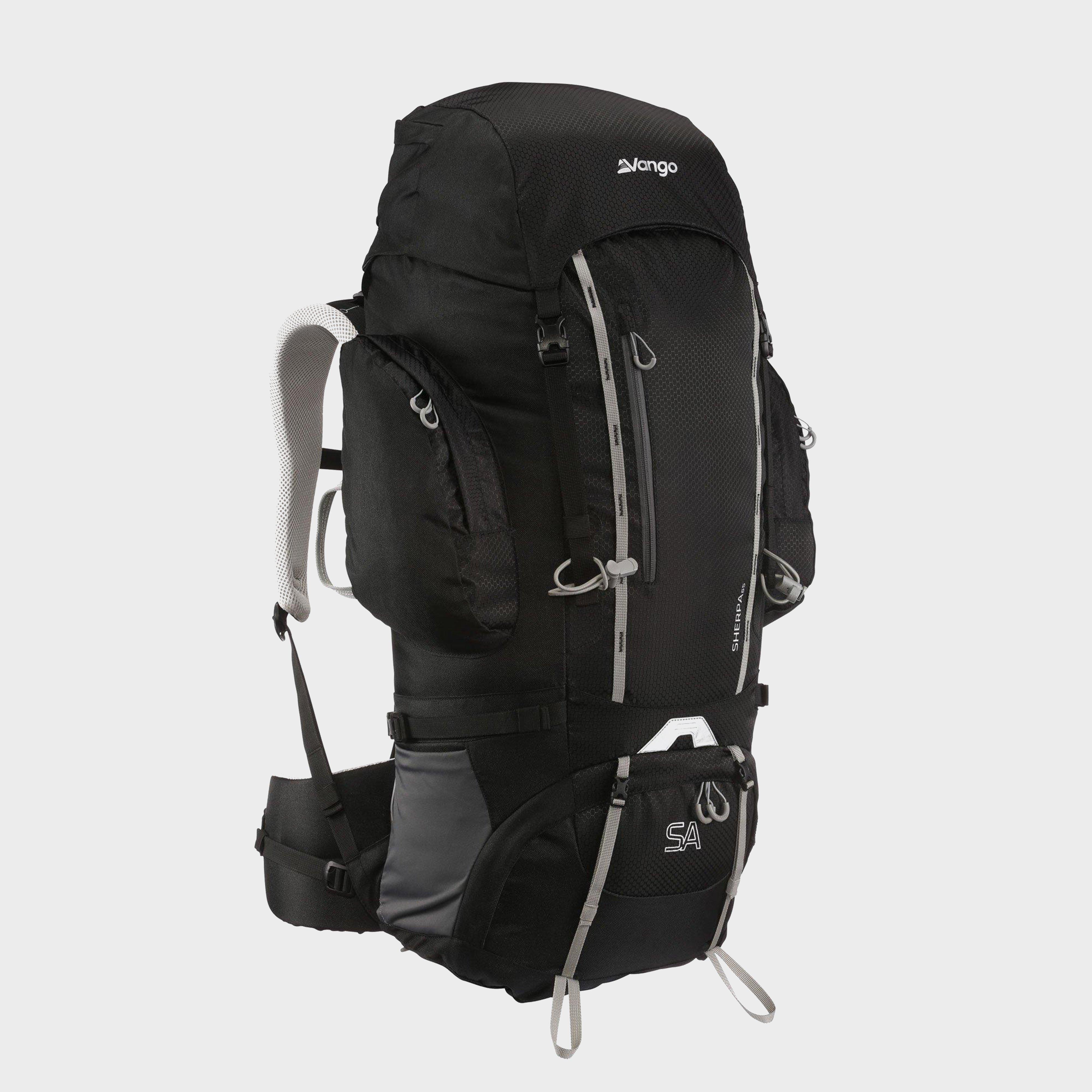 Vango Sherpa 65 Rucksack - Black/65, Black